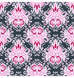 Seamless pink luxury damask design vector