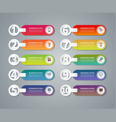 Set of infographic numbered banners vector image vector image