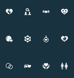 Set of simple feelings icons vector
