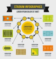 Stadium infographic concept flat style vector