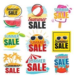 summer sale banner set vector image