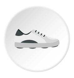 White golf shoe icon circle vector