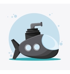 Submarine transportation vehicle vector