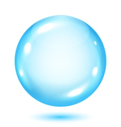 Big opaque light blue sphere vector