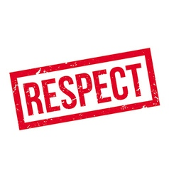 Respect rubber stamp vector