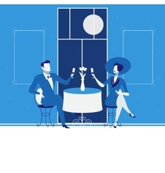 Romantic date concept in flat vector