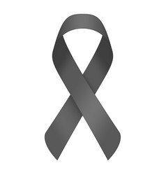 Black mourning ribbon vector