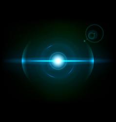 Blue space explosion cosmos burst vector