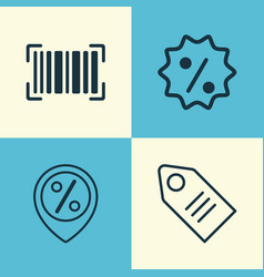 E-commerce icons set collection of discount vector
