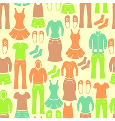 Seamless retro pattern with clothing vector