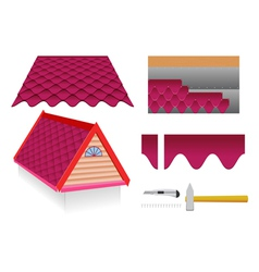 Soft tile roof vector