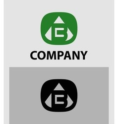 B letter logo icon design template element vector
