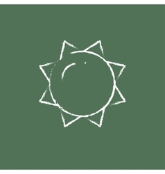 Sun icon drawn in chalk vector
