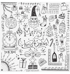 Winter holidays - doodles set 3 vector