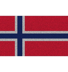 Flags norway on denim texture vector