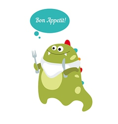 Bon appetit message vector