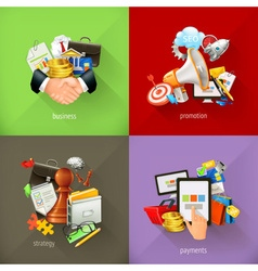 Business concepts 3d icons vector