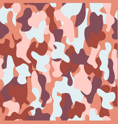 camouflage seamless pattern in a brown blue pink vector image vector image