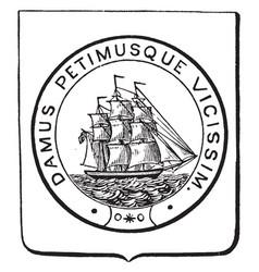 Coat of arms british guiana vintage vector