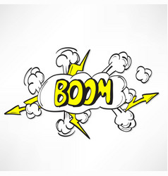 comic book explosion vector image vector image