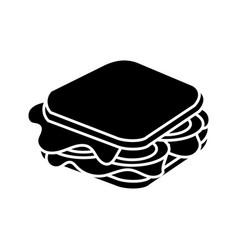 Contour fast food sandwich meal vector