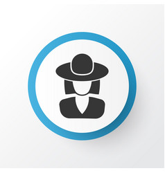 Elegant headgear icon symbol premium quality vector