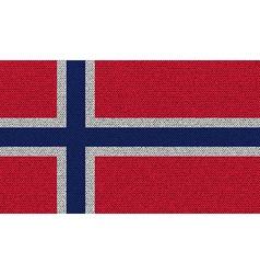 Flags norway on denim texture vector