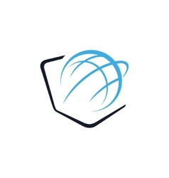 Globe and laptop sign vector image vector image