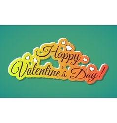 Happy Valentines Day Words vector image