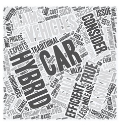 Hybrid vehicles3 text background wordcloud concept vector