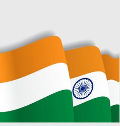 Indian waving Flag vector image