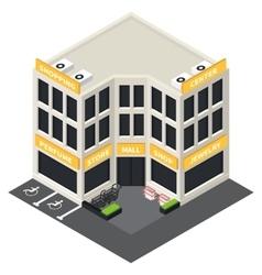 Isometric building icon vector
