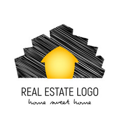Logo template for real vector