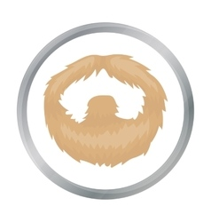 Man s beard icon in cartoon style isolated on vector