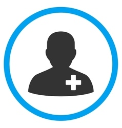 Medical volunteer rounded icon vector