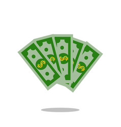 money banknote dollar cash currency icon flat vector image