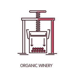 Organic winery promotional poster with press vector