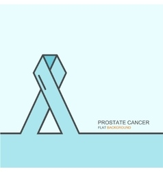 Outline flat design of prostate cancer vector