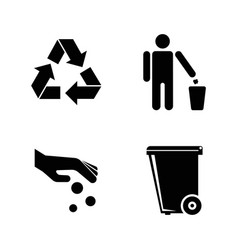 purity simple related icons vector image