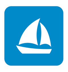 sailboat icon simple vector image vector image