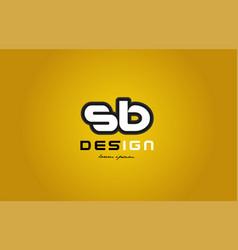 sb s b alphabet letter combination digit white on vector image vector image