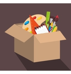school supplies design vector image vector image