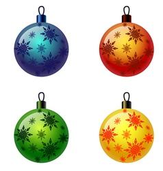 Set of Christmas balls Christbaumschmuck vector image vector image