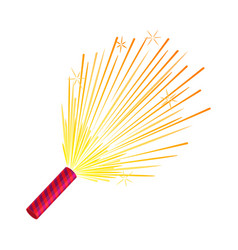 sparkler set of fireworks pyrotechnic devices vector image vector image