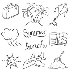 Summer of doodles for kids vector