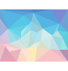 Triangle mosaic background in light pastel colors vector
