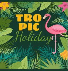 tropical holiday background with exotic vector image vector image