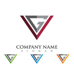 v letter logo template icon vector image
