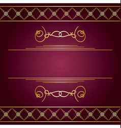 Violet background with golden decorative ornaments vector
