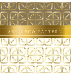 White and gold seamless pattern in ar deco style vector